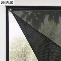 Wholesale Vertical Window Shades - Customized Size Sunshade Window Roll Blind Mesh fabric with Sucker Black Color Car Shade with Strong Suction Easy to install
