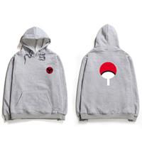 Wholesale naruto sasuke hoodie - New Fashion Naruto Cotton Hoodie Sweatshirts Casual Bloody Eye Hoodie Boys Fashion Hokage Ninjia sasuke Men Sweatshirt