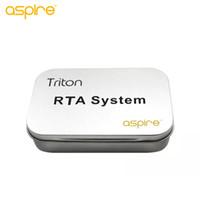 стремятся регулируемый комплект оптовых-БОЛЬШИЕ ПРОДАЖИ!! Aspire Triton RTA система с DIY инструменты регулируемое сопротивление 0.3 ohm-0.9 ohm Triton распылитель катушки комплект головки 100% подлинный
