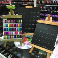 esmalte de uñas color tablero al por mayor-Nail Art Display Board Nail Art Display Gráfico UV Gel Polish Manicure Nail Art Tools Nueva llegada Libro de colores