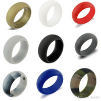 Wholesale ring comfortable online - Silicone Wedding Ring Flexible Silicone O ring Wedding Comfortable Fit Lightweigh Ring for Mens Multicolor Comfortable Design for Men