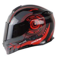 capacete rosto cheio virar venda por atacado-VCOROS integrado capacete da motocicleta bluetooth 150 m interfone 2 telefone móvel conectado full face modular flip up capacetes