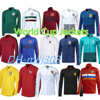 Wholesale russia football - 2018 world cup France Soccer jacket Survetement 1819 Mexico Belgium Argentina Portugal Netherlands Russia Germany football jacket sportswear