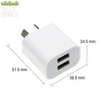 au 4s зарядные устройства оптовых-5V 2A AU Plug 2 USB double usb 2USB зарядное устройство Power Travel AC адаптер квадратный хороший desin для iPhone 4S / 5 / 5S / 5C/6/6S / 6 Plus/7 / 7 Plus 8