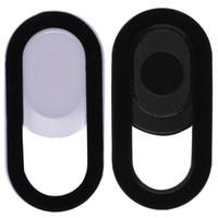 tablet sticker al por mayor-Funda de plástico para cámara web Protección de la privacidad Etiqueta de obturador Funda de la cámara Funda universal para teléfono inteligente con tableta Computadora portátil