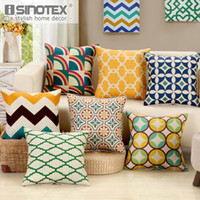 Wholesale floral knit fabric for sale - Group buy Linen Fabric Geometric Patterns Cushion Cover Pillowcase Pillow Case Floral Christmas Decoration Sofa Living Room x45CM