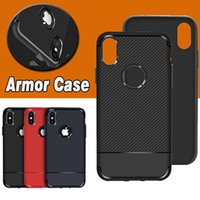 Wholesale Ultimate Fit - Armor Hybrid Carbon Fiber Shockproof The Ultimate Experience Protection Soft TPU Cover Case For iPhone X 8 7 Plus 6S Samsung S8 Note 8
