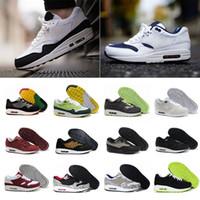 new product b2451 cfe3d New Arrivel Livraison Gratuite Célèbre Nike Air Max Airmax 87 90 Ultra 1  Éléphant Noir Clair Jade-Blanc Hommes Femmes Chaussures de Course Sneakers  Taille ...