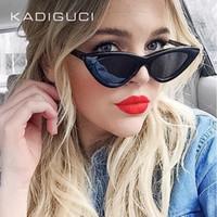Wholesale chic lady - KADEGUCI New Sexy Elegant Cat Eye Sunglasses Floral Oval Sun Shades Chic Lady Sunnies Eyewear Brand Designer Sunglasses Women UV400 K0136