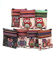 coruja alta venda por atacado-Novas mulheres da moda sacos de ombro padrão de coruja bordado carteiro pacote tote bolsas mensageiro saco de alta qualidade