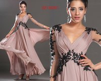 Wholesale Side Shoulder Casual Dresses - free shipping new fashion 2018 sexy Long Sleeves Bride robe de soiree lace appliques casual dress party evening elegant dresses