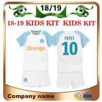 Wholesale marseille football kit - 18 19 Marseille Kids kit 10 PAYET Soccer Jersey 2019 Olympique Marseille Home OCAMPOS L.GUSTAVO BATSHUAYI THAUVIN child Football shirt sales