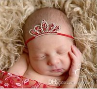 Fashion Baby Rhinestone Crown Headbands Girls Infant Hair Accessories  Princess Elastic Tiara Headwear Headdress Christmas Gifts KHA449 800e2af8b6bf