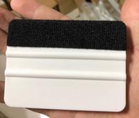 tissu feutré blanc achat en gros de-Raclette en feutre Auto Film de voiture Film de pellicule de vinyle auto 4