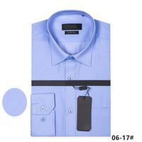camisas de algodão de manga comprida para homens venda por atacado-2018 real picture 100% algodão Camisas Masculinas de Manga Longa Camisa Dos Homens b0ss Marca Roupas Camisa Masculina Social Casual Chemise