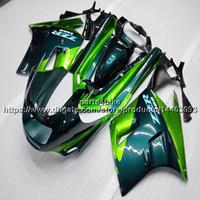 91 kawasaki ninja zx 11 großhandel-23colors + 5Gifts ABS grüne Verkleidung für Kawasaki ZX-11 ZZR1100 1990-1992 ZX11 ZZR 1100 90 91 92 Karosserie-Motorradplastikinstallationssatz