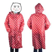 322fad87ffc Waterproof Raincoat Women Dot Fashion Long Ladies Raincoat Over Knee With  Hood And Packing Pouch Pocket Poncho Coat Rainwear