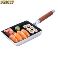 Wholesale Mini Pancakes - New High -Quality Frying Omelet Fried Eggs Square Pan Aluminum Non -Stick Omelet Pancake Mini Cooking Fried Frying Grill Induction