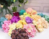 decoração de cabelo flor venda por atacado-36 cores hydrangea artificial cabeça de flor de seda decorativa para a parede de casamento archdiy cabelo flor de decoração para casa g368