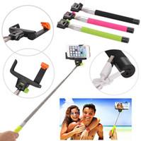 tripé vara venda por atacado-Extensível Selfie Stick Monopé Tripé z07-5 com Bluetooth embutido Retrato remoto sem fio do obturador para iPhone 4 5 6 SamSung s4 s5 HTC LG