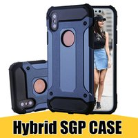 Wholesale galaxy duos cases - For Galaxy J4 2018 SGP Slim Heavy Duty Hybrid Tough Armor Case for iPhone X 8 Samsung S9 J7 Duo LG Q6 Huawei