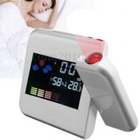 Wholesale aa electronics for sale - New Creative Multi Function LED Electronics Clock Weather Forecast Projection Alarm Clocks Time Watch High Quality zj aa