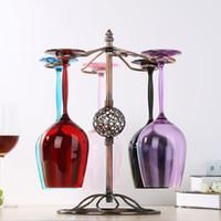 şarap rafı bardaklık toptan satış-Şarap Gözlük tutucu Mutfak Bar şarap Bardağı Asılı Tutucu Metal Kadeh Ekran Standı Içme bardak raf