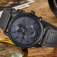 роскошные аналоговые часы оптовых-CURREN Business Quartz Man Watch 2017 Men's Watches Top  Analog Grey Male Wristwatch Mens Hodinky Uhr Male Clock Man