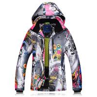 ingrosso scarpe da sci impermeabili delle signore-Giacche da sci invernali 2018 Ladies Single Double Board abbigliamento da sci antivento impermeabile caldo cappotto giacca spessa donne