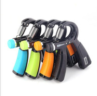 Wholesale black hand grips for sale - Group buy adjust hand gripper portable hand power exercise gripper with counter finger training tools power wrist forearm exerciser