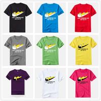 Wholesale Organic Tee Shirts - 2018 New High-quality Fashion Brand T-Shirt Just Do It Print T-Shirt Men & Women Summer Tops Hip Hop Tees Funny Male T Shirts size S-3XL