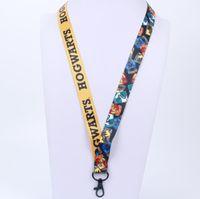 okul boynu takımı toptan satış-Harry Potter Anahtar İpi Hogwarts Okul Telefon Halat Zincir Kayış İpi Anahtarlık Anahtarlık Kordon KIMLIK rozeti Askı KKA6126