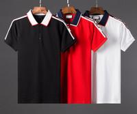 Wholesale brand ss - 2018 ss Brand New fashion mens polo tops t shirts short sleeve poloshirt men High street polo shirt