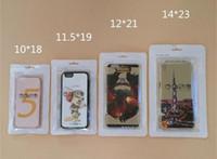 tampos de invólucro pvc venda por atacado-Embalagem do caso do iPhone do telemóvel Pacote de varejo plástico do Zipper da embalagem Saco do pacote do PVC de Opp sacos do fechamento do PVC com tamanho do cair do furo