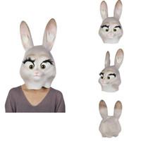 çocuklar için yüz maskeleri toptan satış-Cadılar bayramı Maskesi Tam Yüz Kaplı Hayvan Cadılar Bayramı Lateks Maske Kostüm Çocuk Oyuncakları Masquerade Tema Parti Malzemeleri
