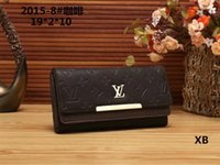 Wholesale bamboo polyester for sale - Group buy 2019 new fashion long wallet fashion brand ladies handbags men and women a variety of wallet style noble and simple generous