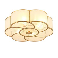 Wholesale noble mount - European American style led ceiling lighting fixture copper luxury noble ceiling lamps ceiling light for living room bedroom Corridor aisle