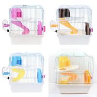 ingrosso case di animale di plastica-Doppi strati Gabbia per criceti Facile da installare Porcellane di plastica rimovibili Casa Accessori per animali domestici di alta qualità 21jy ff