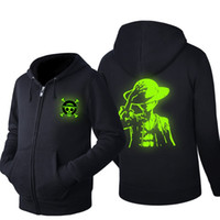 Wholesale anime clothes hoodie online - clothes hoodie men Hip Hop Hoodie Black Jacket Men Clothes Fashion Hooded Hombre zipper Anime hoody One Piece Monkey D Luffy