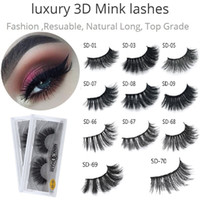 Wholesale 3d hair - 100% Real Siberian 3D Mink Full Strip False Eyelash Long Individual Eyelashes Mink Lashes Extension