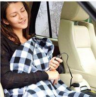 12v elektroauto heizung großhandel-Heißer Großverkauf geben Verschiffen 12V elektrisch geheiztes Auto Van-LKW-Fleece gemütliche warme Winterdecken-Abdeckungs-Heizung frei