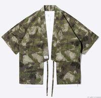 Wholesale Japanese Kimono Shirt - New Designer Japanese Streetwear Style Mandarin Robes for Men Jackets Camouflage Mens Clothes Camou Kimono Shirt