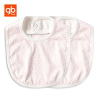 Wholesale gb print - GB Modal 2pcs Baby Bibs Soft Absorbent Burp Cloth Leopard Prints Feeding Bib with Buckle for 0-12 Months Old