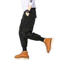 schwarze hip hop baggy sweatpants großhandel-2018 Men Casual Cargohose Herren Jogginghose Hip Hop Hose Baggy schwarz Haremshose Herren Jogger Pantalones Hombre 5XL q171140