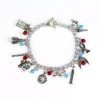 bracelet de salut achat en gros de-Movie bracelet harry bracelet Death Hallows chapeau couronne potter bracelets Femmes Fans Fans Star trek Alice au pays des merveilles