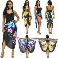 a3afabe54b9a sexy scarf shawl summer beach digital printing beach skirt dress many  wearing ways butterfly shape vestido en la paraya una bonita mariposa