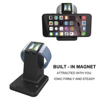 soporte del cargador para la tableta al por mayor-Envío gratuito 2 en 1 USB2.0 Soporte de carga Estación de acoplamiento Adaptador de cable para Fitbit Ionic Pulsera Smartwatch Tabletas Soporte para teléfono