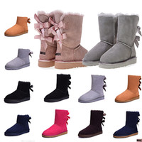 Wholesale womens ankle shoes flats boots resale online - 2018 winter New WGG Australia Classic snow Boots Cheap womens winter boots fashion discount Ankle Plus cotton Boots shoes size