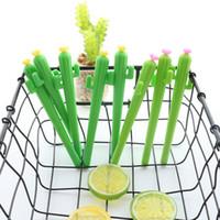 sevimli bitki hediye toptan satış-1 Adet Yeni Sevimli Yaratıcı kawaii Kaktüs Jel Kalem Etli Bitkiler Kırtasiye Çocuklar Hediye Okul Kırtasiye Kalem