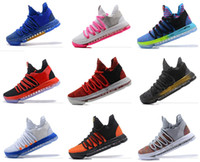 Wholesale red leopard print - New Air KD 2018 Top quality KD 10 Oreo Be True UniversIty Red White Chrome Easter Cheap Kevin Durant kds Sneakers Sports Shoes